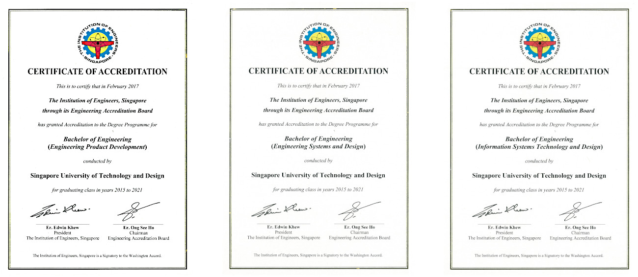 Full Accreditation Of Bachelor Of Engineering And Master Of Architecture Degree Programmes Achieved Sutd Our Story